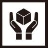 取り扱い注意を表すロゴアイコンマーク