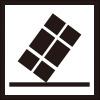 不安定な配送物を表すロゴアイコンマーク