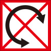 配送物の転がし禁止を表すロゴアイコンマーク
