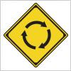 ロータリーを表す道路標識