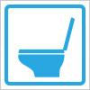 洋式トイレを表すアイコンイラスト