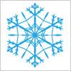 雪の結晶のイラスト5点セット