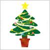 クリスマスツリー(もみの木)のイラスト