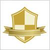 金色の盾・シールドイラスト