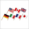 G7(ジーセブン)先進国の揺らめく国旗・フラッグイラストセット