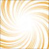 オレンジ色のぐるっと集まる効果線