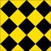 ハーリキンチェック柄のパターン