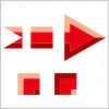 赤い矢印のイラレ用パターンブラシ素材