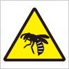蜂・蜂の巣への注意を表す標識アイコンマーク