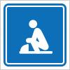 和式トイレを表すピクトグラム標識アイコンマーク