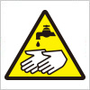 手を洗う注意標識アイコンマーク