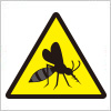 蚊注意を表す標識アイコンマーク
