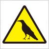 カラスなどの鳥注意標識アイコンマーク