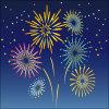 夜空を彩る花火のイラスト素材