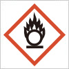 他の物質の燃焼を助長する恐れを表すGHSシンボルマーク
