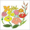 ラフなタッチで描かれた花のイラスト