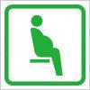 妊娠している方を表す優先席・シルバーシートの案内アイコンマーク