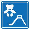 キッズスペースを表す案内標識アイコンマーク