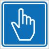 スイッチを押す等を表す案内標識アイコンマーク
