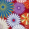 菊の紋章の和柄イラスト素材
