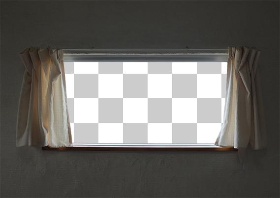 窓の外の切り抜き画像