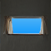自由な景色をはめ込める窓の外の切り抜き画像