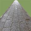 真っ直ぐな石畳の切り抜き画像