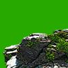 ごつごつした岩場(小さい崖)の切り抜き画像