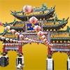 横浜中華街の門と提灯の切り抜き画像