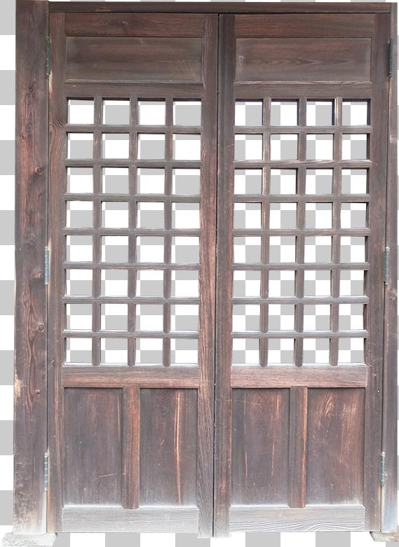 古い木の扉の切り抜き画像
