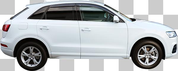 SUVの白い車の切り抜き透過画像