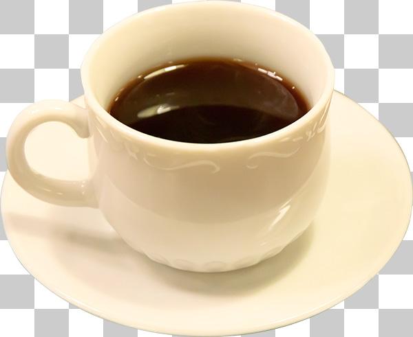 コーヒーカップ(コーヒー入り)の切り抜き透過画像