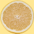 グレープフルーツの断面の切り抜き透過画像
