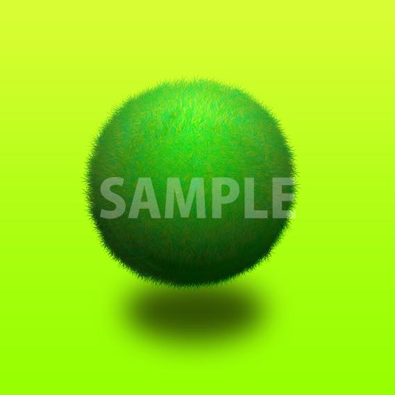 緑の草で覆われた3D球体