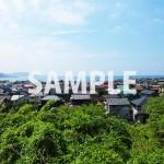 高台から海の見える街を一望