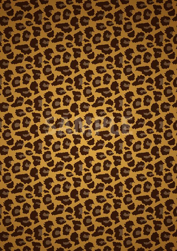アニマル 豹柄のA4サイズ背景素材