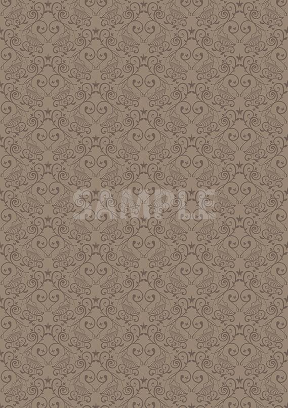 西洋風の壁紙のようなパターン素材から作成したA4サイズ背景素材