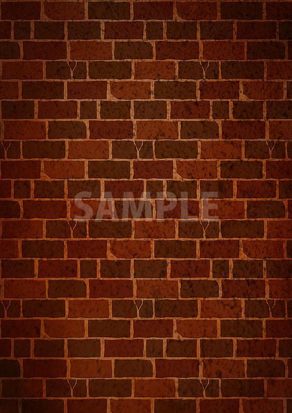 レンガブロックのシームレスパターン素材から作成したA4サイズ背景画像
