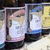 鎌倉の地ビール(瓶ビール)が並ぶ、フリー写真素材