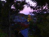 眺望散策路から見る夕暮れ時の長谷寺