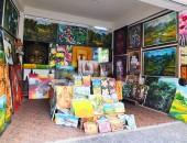 バリ島・ウブド村の絵画商店