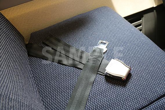 旅客機のシートベルト