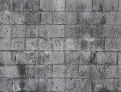 黒ずんだブロック塀のテクスチャー