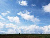 宮古島の豊かな自然と大きな雲