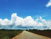 宮古島のダイナミックな雲