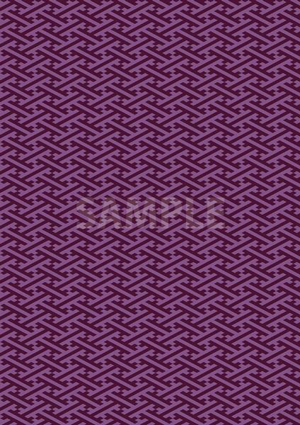 和柄・紗綾形のパターン素材から作成したA4サイズ背景素材