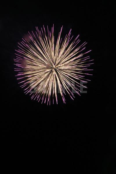 紫・黄色の花火