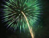 緑・青色の打ち上げ花火