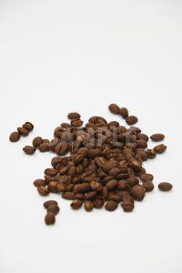 コーヒー豆が積まれたの写真