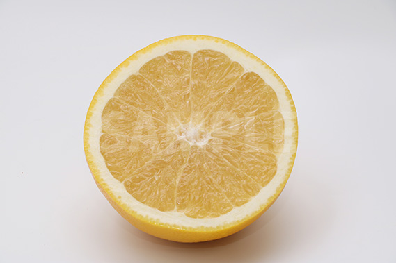半分に切られたグレープフルーツの断面写真